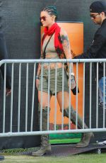 RUBY ROSE at Coachella Valley Music and Arts Festival in Indio 04/15/2016