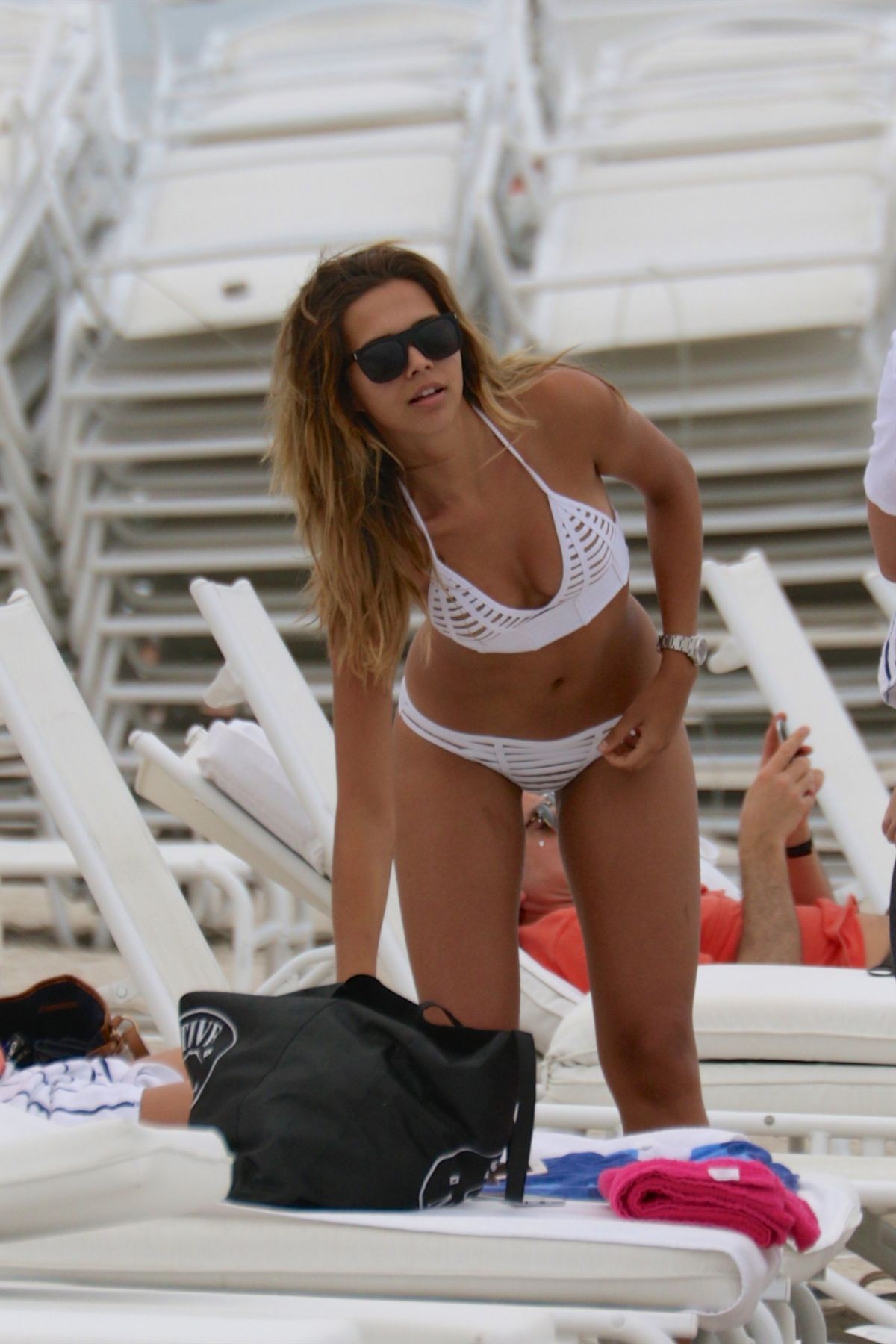 SANDRA KUBICKA in Bikini at a Beach in Miami, April 2016