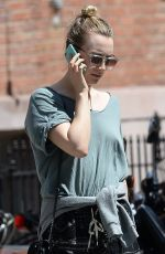 SAOIRSE RONAN Out and About in New York 04/21/2016