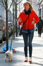 SARA COX Walks Her Dog Out in London 03/22/2016