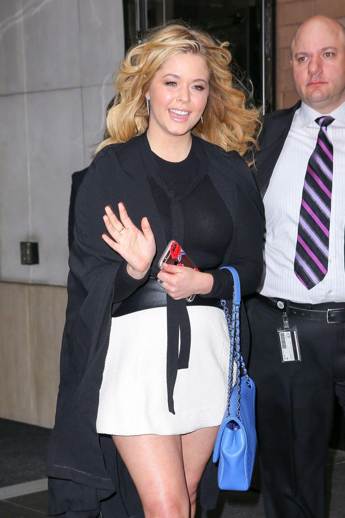 SASHA PIETERSE Leaves Her Hotel in New York 04/07/2016