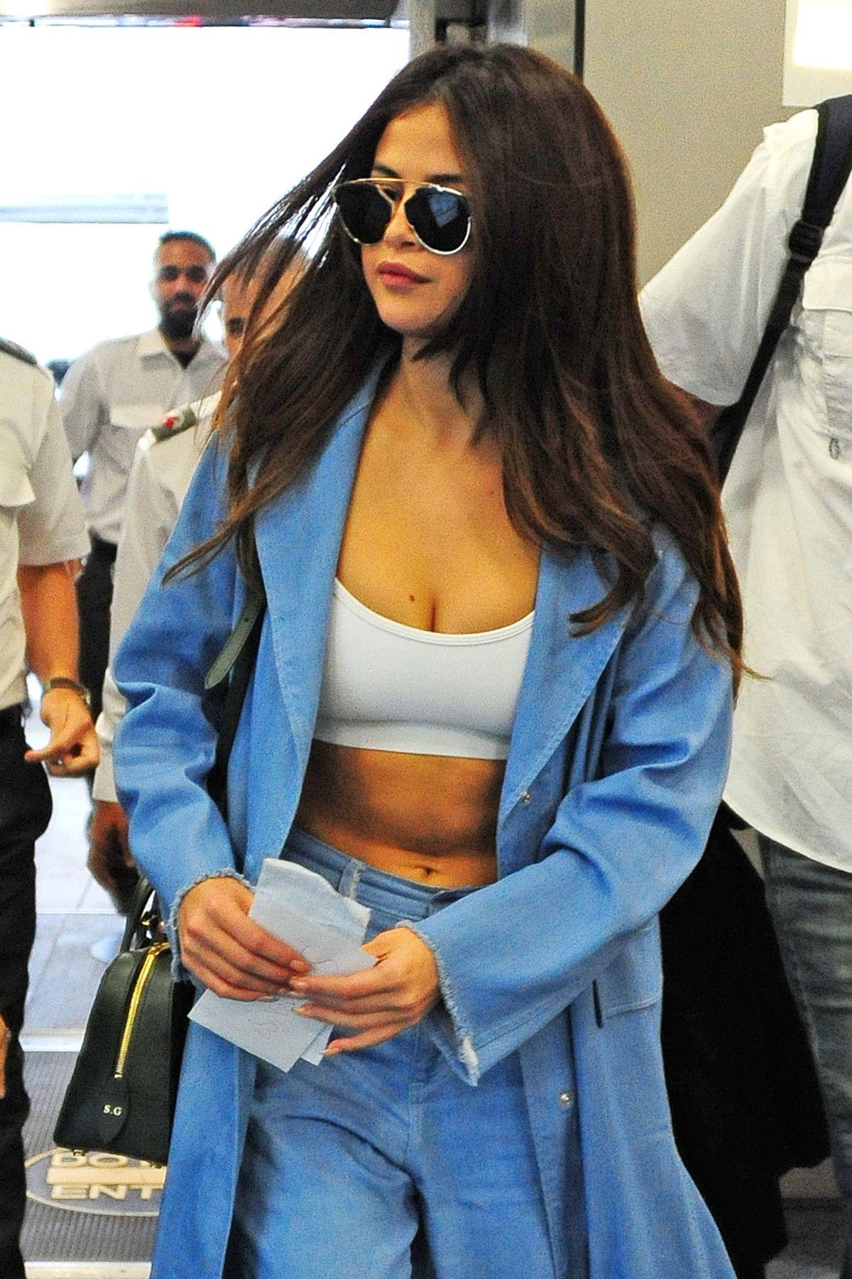 SELENA GOMEZ at Airport in Miami 04/09/2016