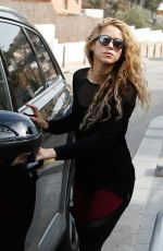 SHAKIRA Out and About in Barcelona 03/16/2016