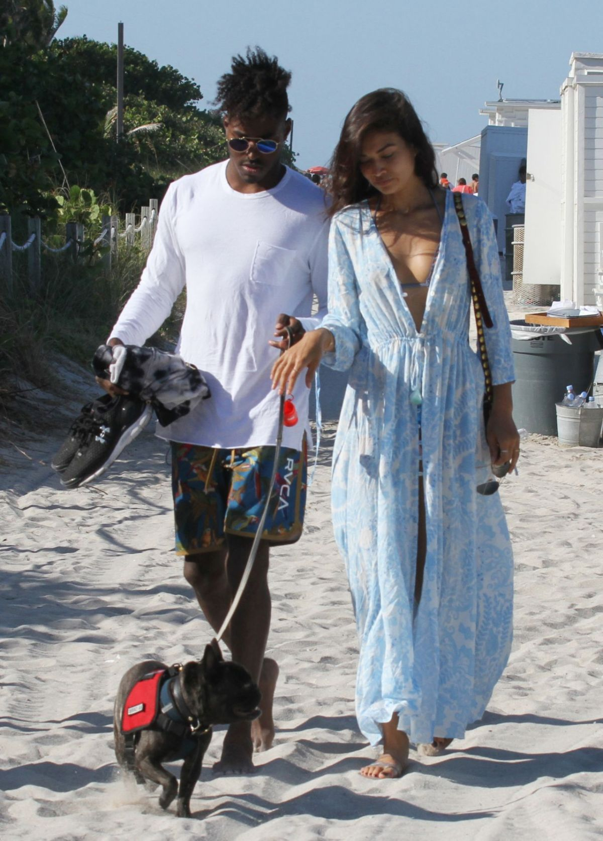 SHANINA SHAIK ad DJ Ruckus at a Beach in Miami 04/24/2016