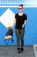 SHARNA BURGESS at DWTS Rehersal in Hollywood 03/26/2016