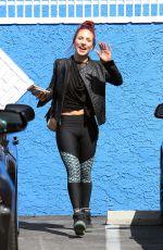 SHARNA BURGESS at DWTS Studio in Hollywood 04/14/2016
