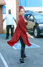 SHARNA BURGESS Leaves DWTS Rehersal in Hollywood 04/17/2016