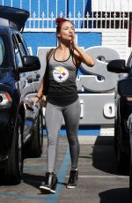 SHARNA BURGESS Leaves DWTS Studio in Hollywood 04/20/2016