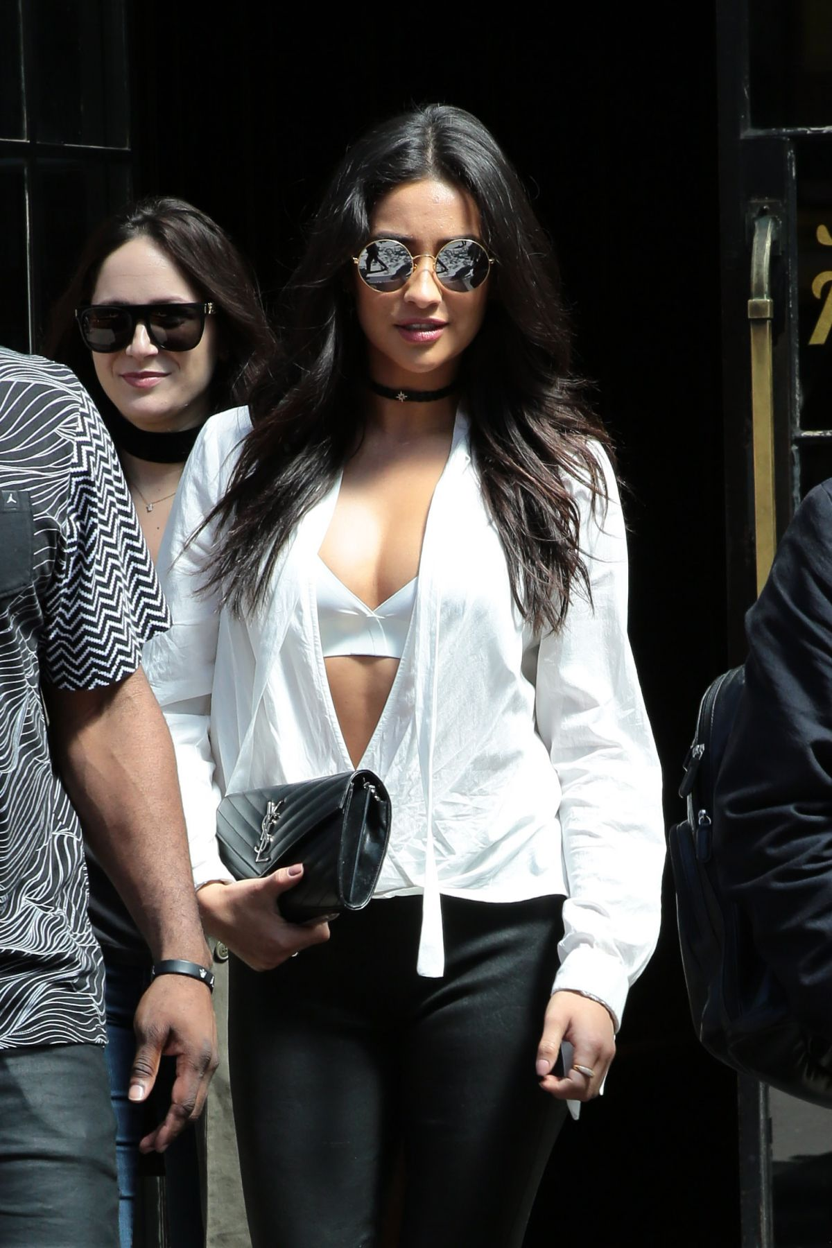 SHAY MITCHELL Out and About in New York 04/24/2016