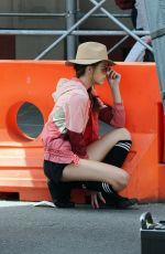 SISTINE ROSE STALLONE on the Set of a Photoshoot in Little Italy 03/23/2016