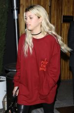 SOFIE RICHIE at Nice Guy in West Hollywood 04/27/2016