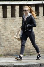 SOPHIE TURNER Out and About in London 04/25/2016