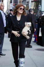 SUSAN SARANDON Arrives at Ed Sullivan Theatre in New York 04/27/2016
