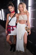 TAYLOR HILL and ROMEE STRIJD at Calvin Klein 'In the Desert' Party at Coachella 04/15/2016