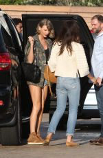 TAYLOR SWIFT in Denim Shorts at Nobu Restaurant in Malibu 04/11/2016