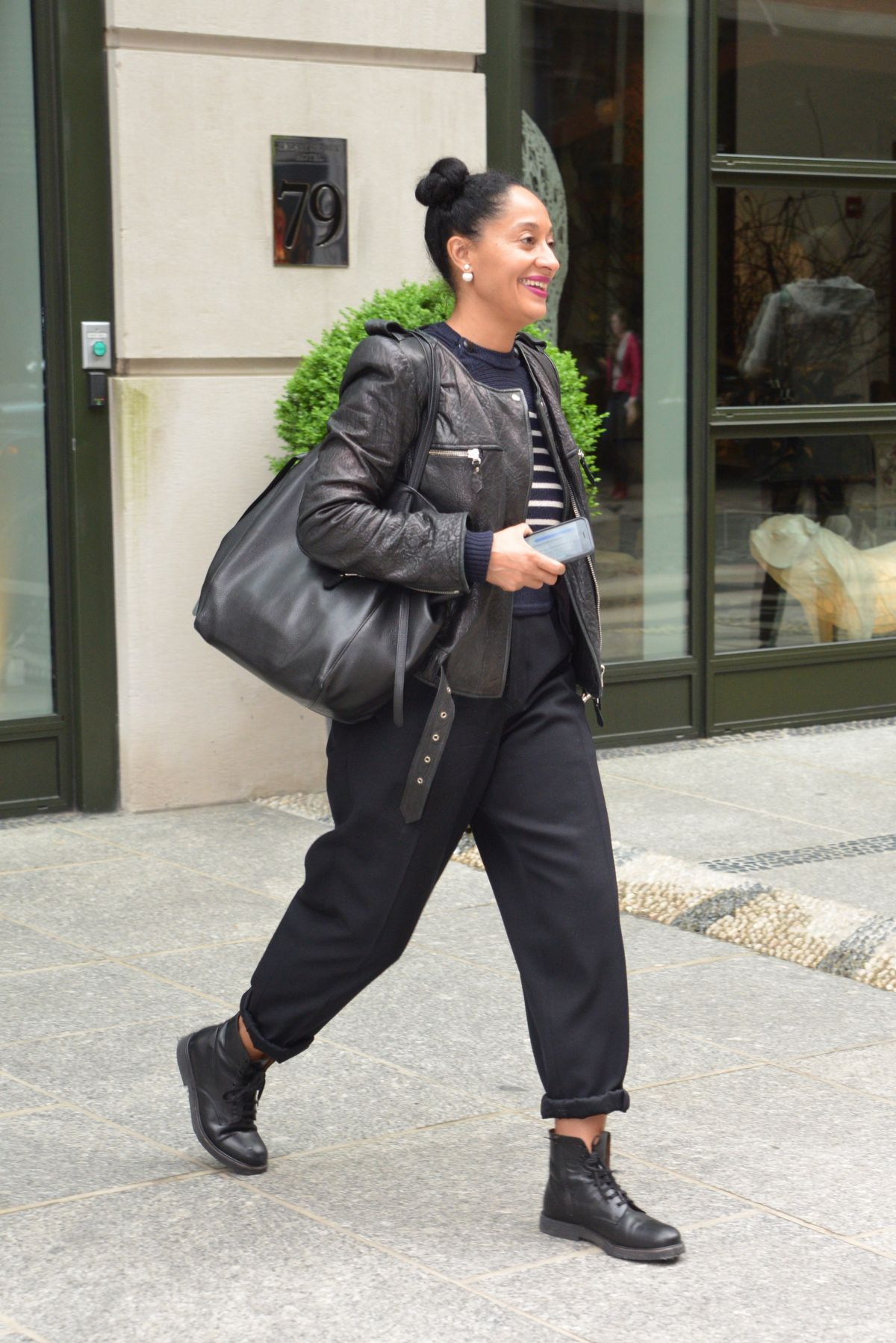 TRACEE ELLIS ROSS Leaves Her Hotel in New York 04/28/2016