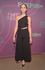 TROIAN BELLISARIO at 2016 ABC Freeform Upfront in New York 04/07/2016