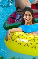 VANESSA and STELLA HUDGENS at a Pool in Miami 04/08/2016