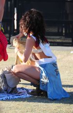 VANESSA and STELLA HUDGENS at Coachella Valley Music and Arts Festival, Day 2 04/16/2016