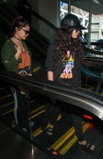 VANESSA and STELLA HUDGENS at LAX Airport in Los Angeles 04/10/2016