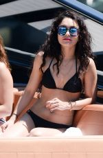 VANESSA and STELLA HUDGENS in Bikinis at a Boat in Miami 04/08/2016