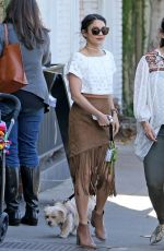 VANESSA HUDGENS at Alfred Coffee in West Hollywood 03/31/2016