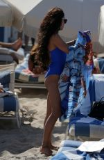 VANESSA HUDGENS in Swimsuit at a Beach in Miami 04/09/2016