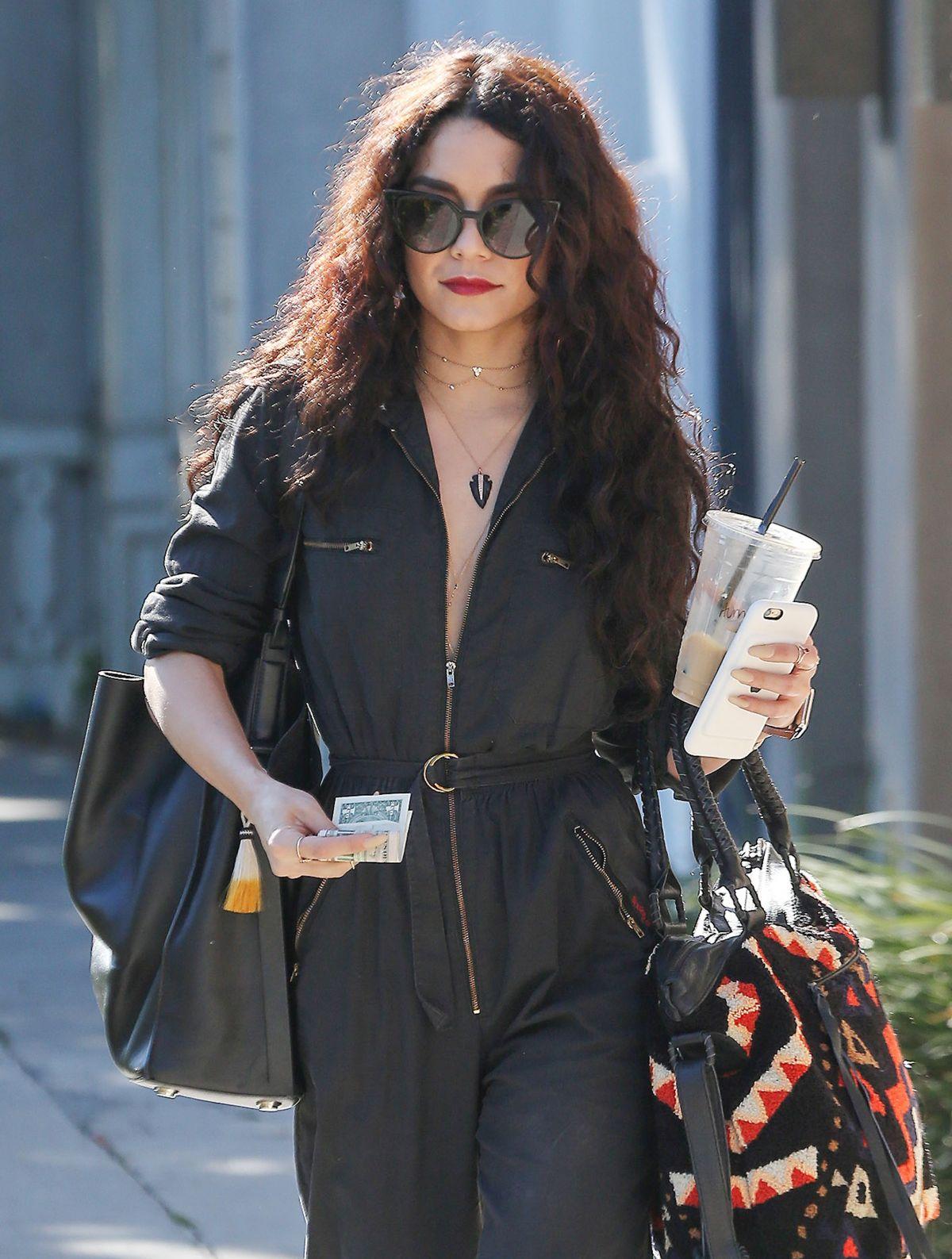 VANESSA HUDGENS Leaves Nine Zero One Salon in West Hollywood 04/02/2016