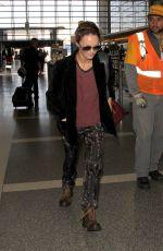 VANESSA PARADIS at LAX Airport in Los Angeles 04/14/2016
