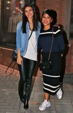 VICTORIA JUSTICE and CHRISTINA MILIAN at a Crew Party for Rocky Horror in Toronto 04/17/2016