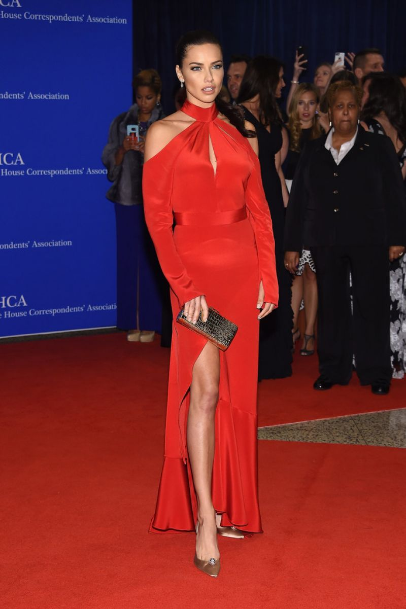 ADRINA LIMA at White House Correspondents' Dinner in Washington 04/30/2016