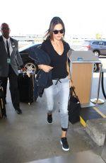 ALESSANDRA AMBROSIO Arrives at Los Angeles International Airport 05/16/2016