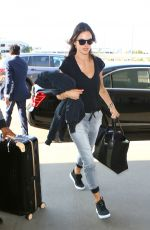 ALESSANDRA AMBROSIO at LAX Airport in Los Angeles 05/16/2016
