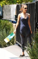 ALESSANDRA AMBROSIO in Tights Out in Santa Monica 05/26/2016