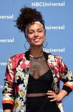 ALICIA KEYS at NBC/Universal 2016 Upfront in New York 05/16/2016