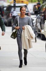 ALICIA VIKANDER Leaves Her Hotel in New York 05/02/2016