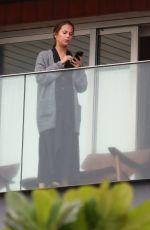 ALICIA VIKANDER on Her Hotel Balcony in Rio De Janeiro 05/27/2016