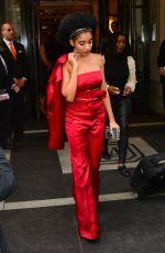 AMANDLA STENBERG Leaves Mark Hotel in New York 05/02/2016