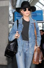 AMBER HEARD at LAX Airport in Los Angeles 05/06/2016