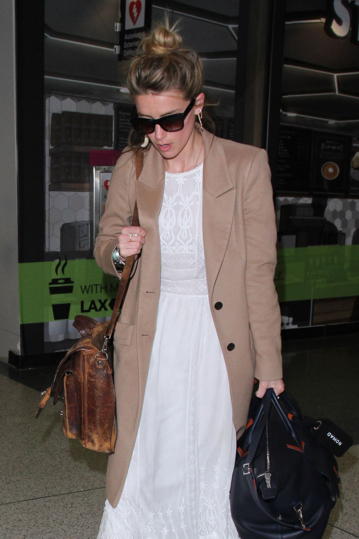 AMBER HEARD at LAX Airport in Los Angeles 05/18/2016