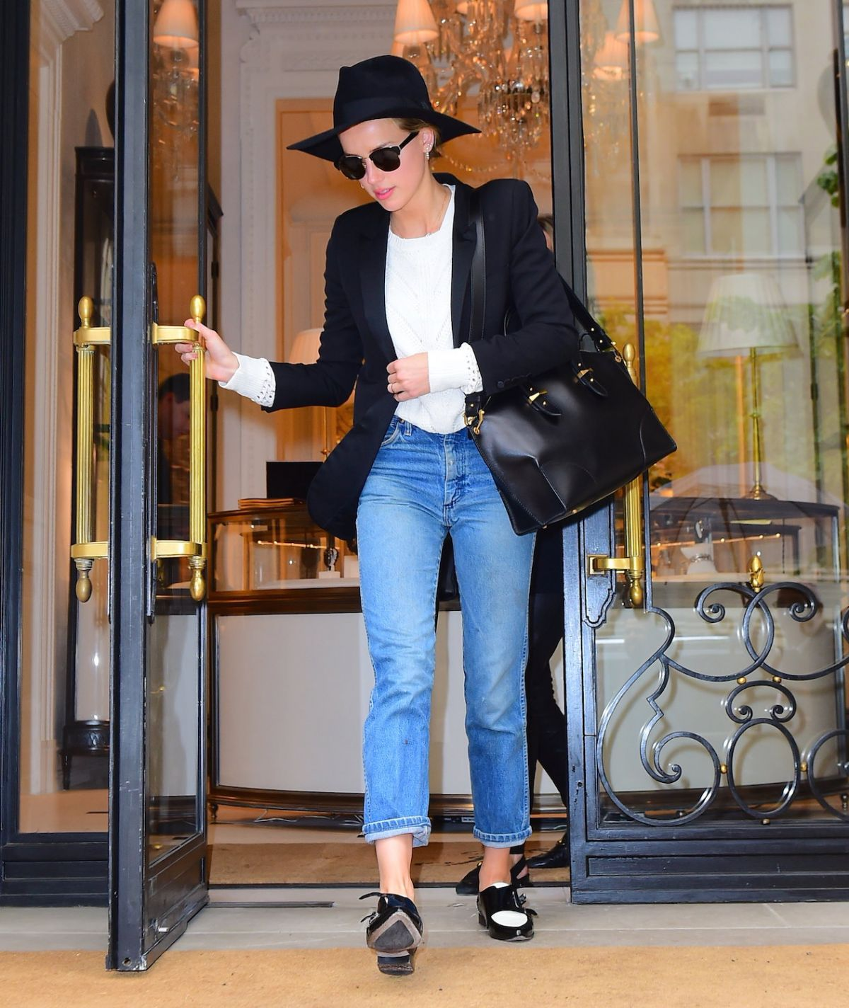 AMBER HEARD Out in New York 05/01/2016