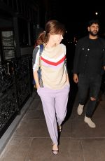 ANNA FRIEL Leaves Groucho Club in London 05/26/2016