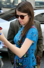 ANNA KENDRICK Leaves BBC Radio Studios in London 05/09/2016