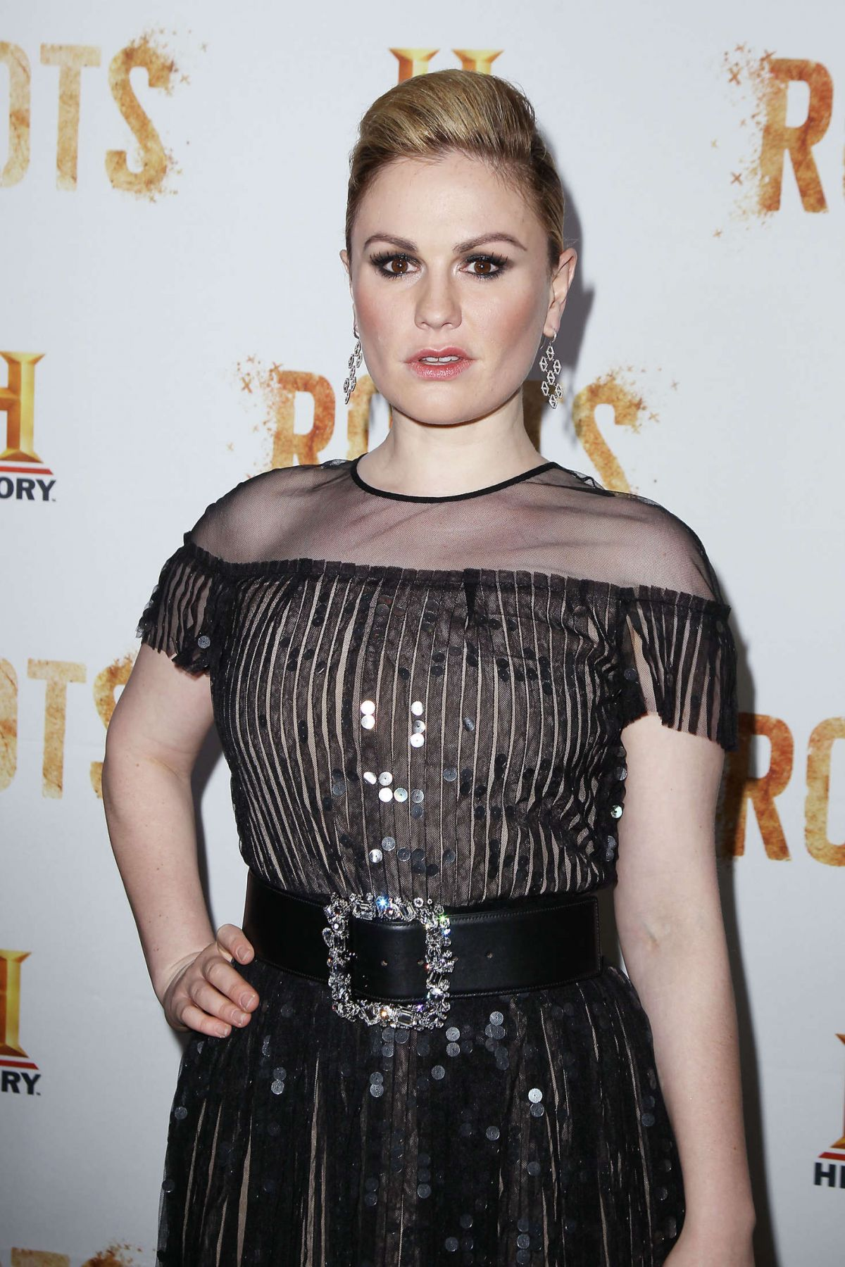 ANNA PAQUIN at 'Roots' TV Series Premiere in New York 05 ... Anna Paquin