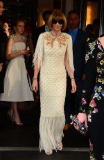 ANNA WINTOUR Leaves Met Gala After-party in New York 05/02/2016