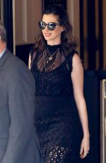 ANNE HATHAWAY Out and About in West Hollywood 04/30/2016