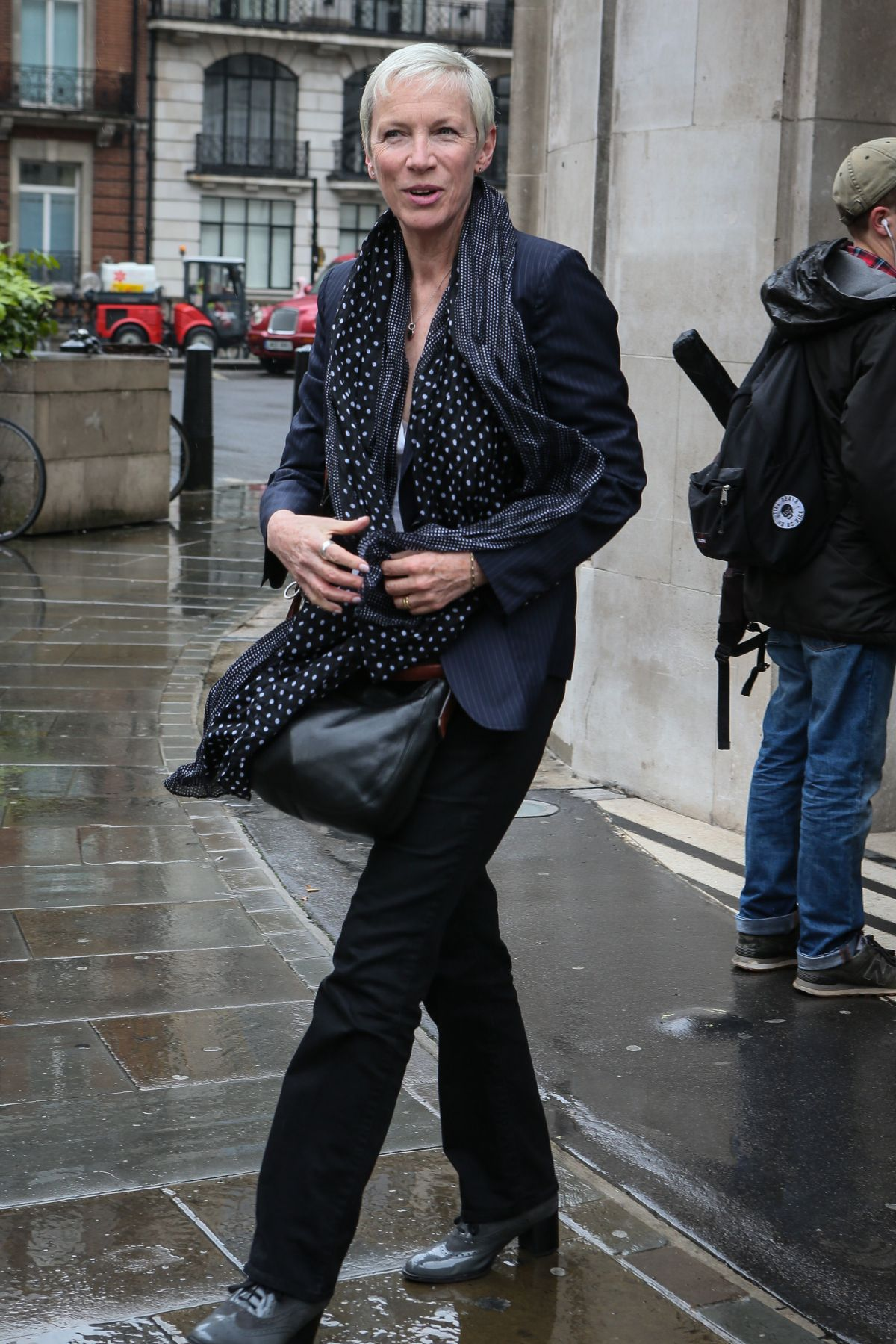 ANNIE LENOX Leaves BBC Radio Studios in London 05/11/2016