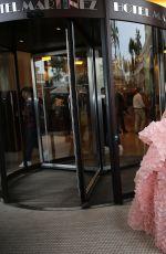 ARAYA A. HARGATE Leaves Hotel Martinez in Cannes 05/11/2016