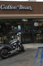 ASHLEY BENSON Leave Coffee Bean in Los Angeles 05/25/2016