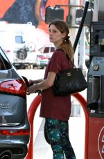 ASHLEY GREENE at a Gas Station in West Hollywood 05/26/2016